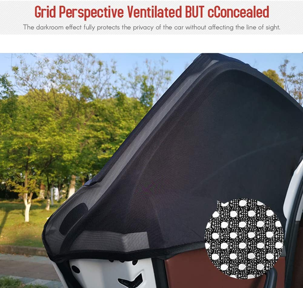 Goolsky Car Window Shade Front Side Window Sun Shade Cover Full Windows Universal Car Shade Mesh Mosquito Net Car Curtains 2 Pack