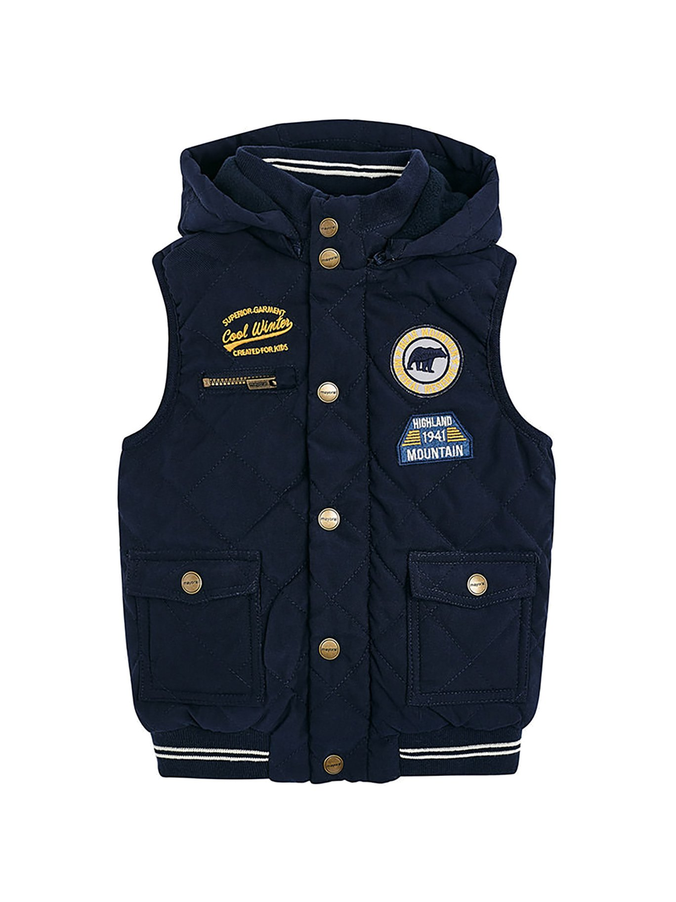 Mayoral 18-04468-016 - Padded Vest for Boys 9 Years Dark