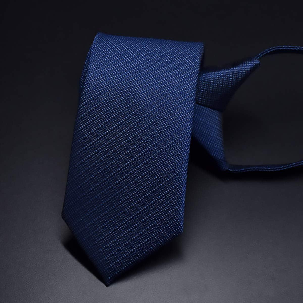 WANYING Corbata Estrecha 6cm con Cremallera para Hombre Corbata de ...