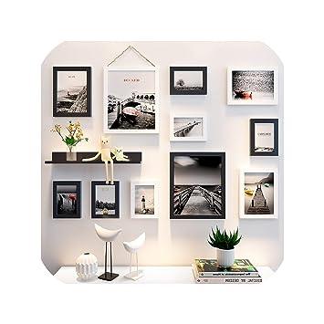 Amazon.com: 11 marcos de fotos + estante para bodas, fiestas ...