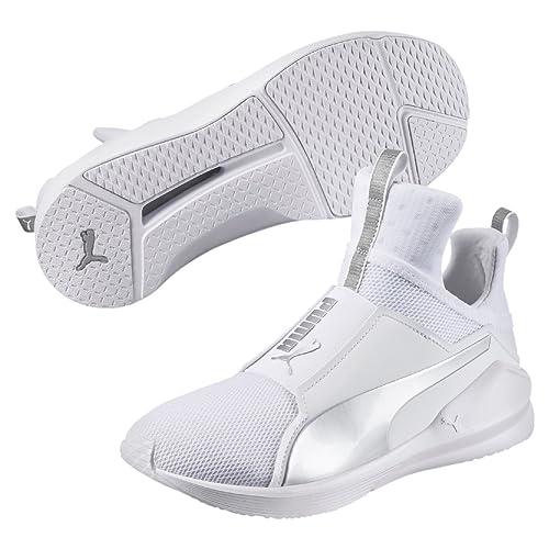 3a0f30ba847ee9 Puma Women s Fierce Core White Silver Running Shoes-6.5 UK India (40 ...