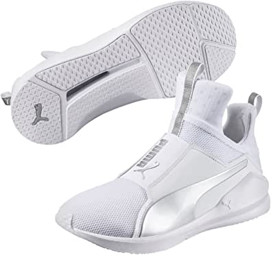 PUMA Women's Fierce Core, White- Silver, Sneakers