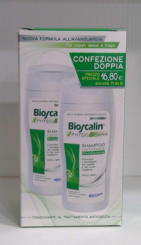 BIOSCALIN SHAMPOO PHYSIOGENINA FORTIFICANTE RIVITALIZZANTE 2X200 ML PROMO!! VICHY
