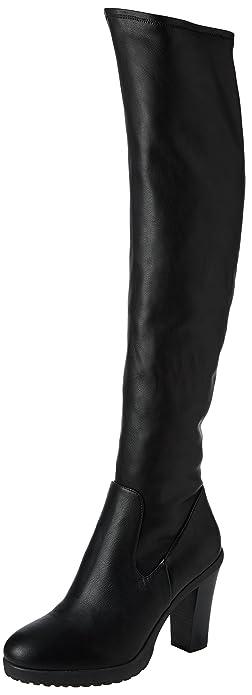 Ariel, Bottes Classiques Femme - Noir (Black Stretch), 40.5 EUSteve Madden