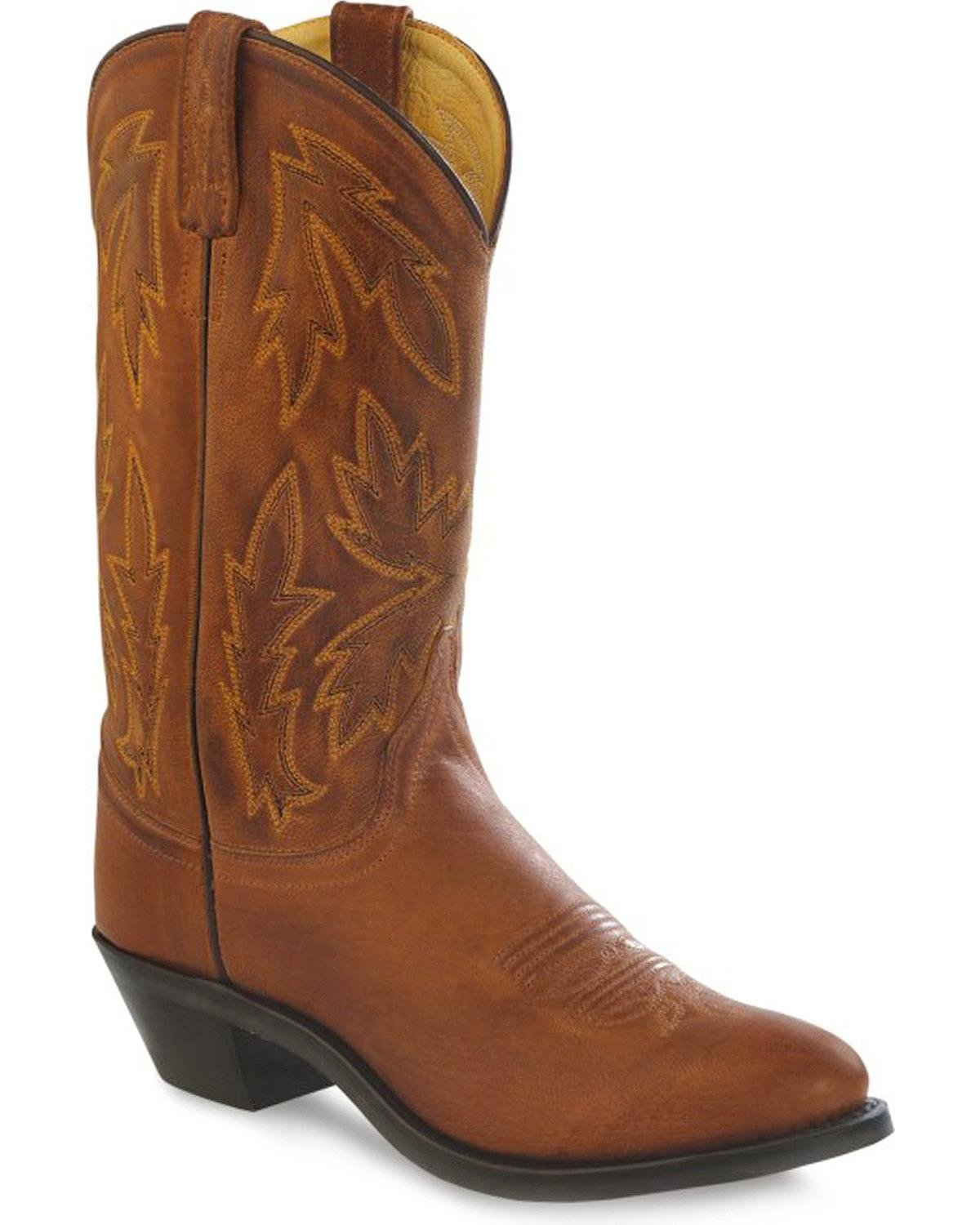 Old West Women's Polanil Western - Cowboy Boot Round Toe - Western Ow2034l B00MNICB0Y 7 M US|Tan 841c37