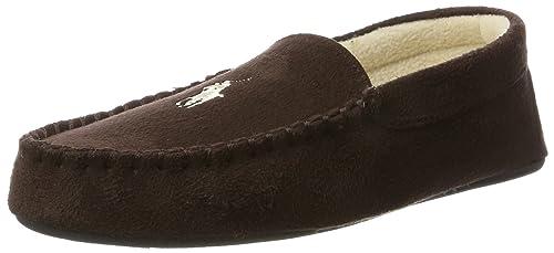 Polo Ralph Lauren Mens Dezi II, Zapatillas de Estar por casa para Hombre, Marrón
