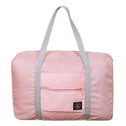 995338851c8f Foldable Duffel Bag for Women and Men-Pink, Heylian Lightweight Waterproof  Luggage Travel Bag