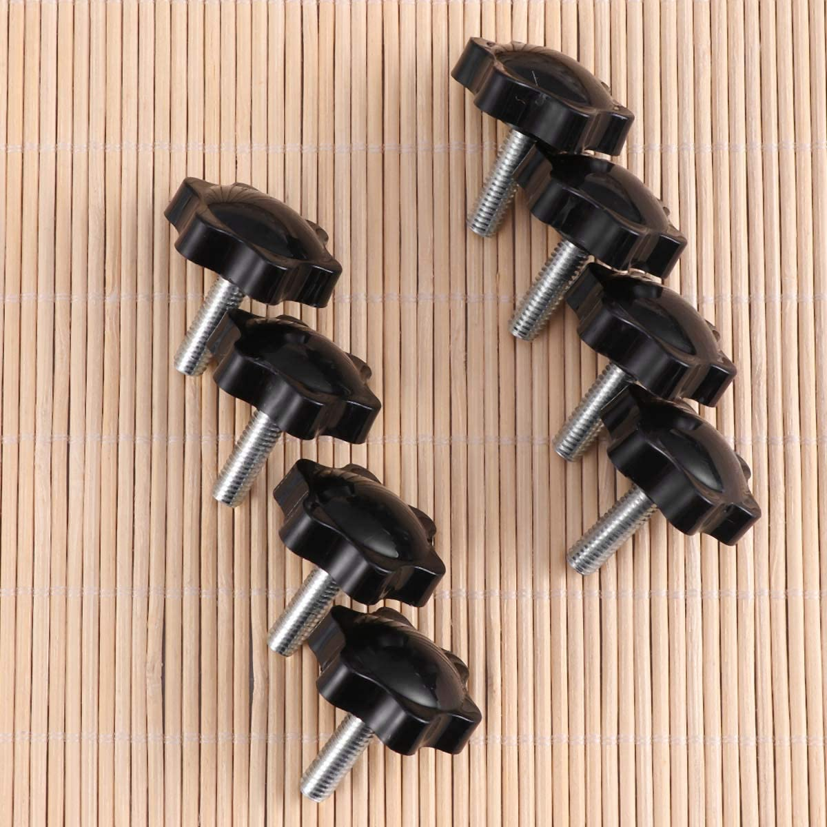 Metal y pl/ástico Color Negro 20 Unidades, M6 x 32 mm, Rosca Macho Perilla de Repuesto para Tornillo de apriete de Mano Yardwe