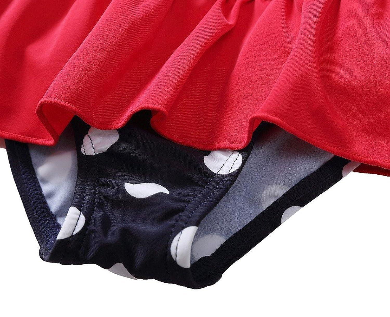 maysoul Baby Girls Ruffle Fruit One Piece Swimsuit Polka Dot Swimwear