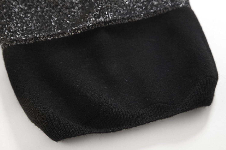 ZLYC Womens Trendy Sparkle Shinny Double Layers Warm Beanie Hat Skull Cap