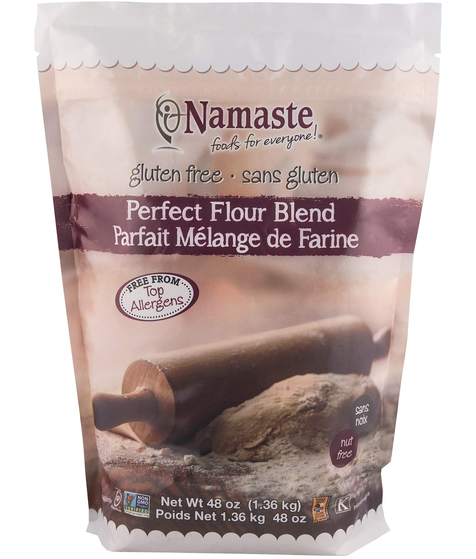 Namaste Foods, Gluten Free Perfect Flour Blend, 48-Ounce Bags (Pack of 6) by Namaste Foods