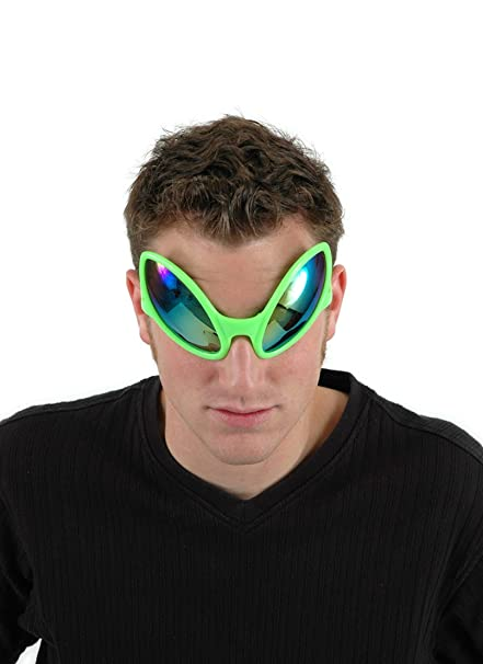 elope Green Alien Costume Glasses for Adults Men and Women