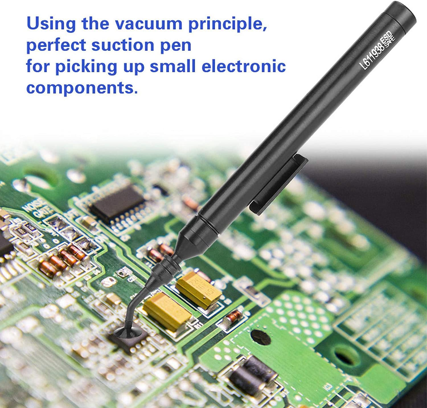Vacuum Suction Pen,Manual Vacuum Suction Pen Soldering Sucking Pickup Tool Kit with Suckers for IC SMD