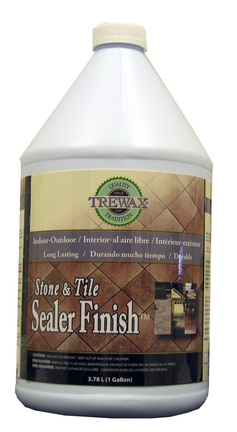 Trewax Professional Stone and Tile Indoor and Outdoor Sealer Finish, 1-Gallon