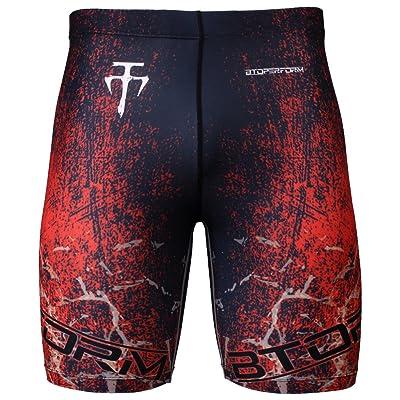 Btoperform Mens Womens MMA Running Printed Compression Tights Shorts Yoga Fy-307r