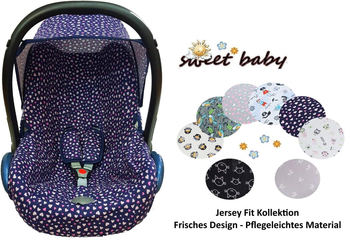 Sweet Baby ** BabyFit 100/% Jersey ** Housse de protection pour Maxi-Cosi Cabrio Pebble et autres