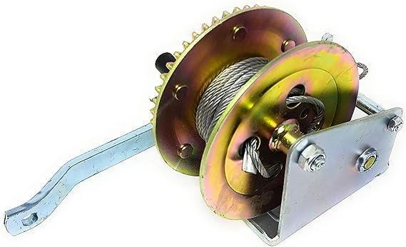 Dwt Germany 100577 10 M 900 Kg Handseilwinde Stahlseil Ratschen Mechanismus Seilwinde Hand Winde Bootswinde Baumarkt