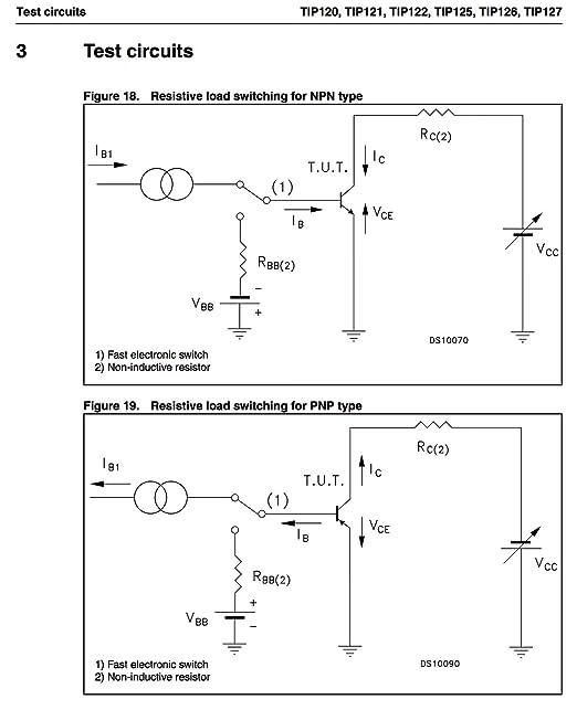 TIP127 ST Silicon Power Darlington NPN Transistor Qty = 2