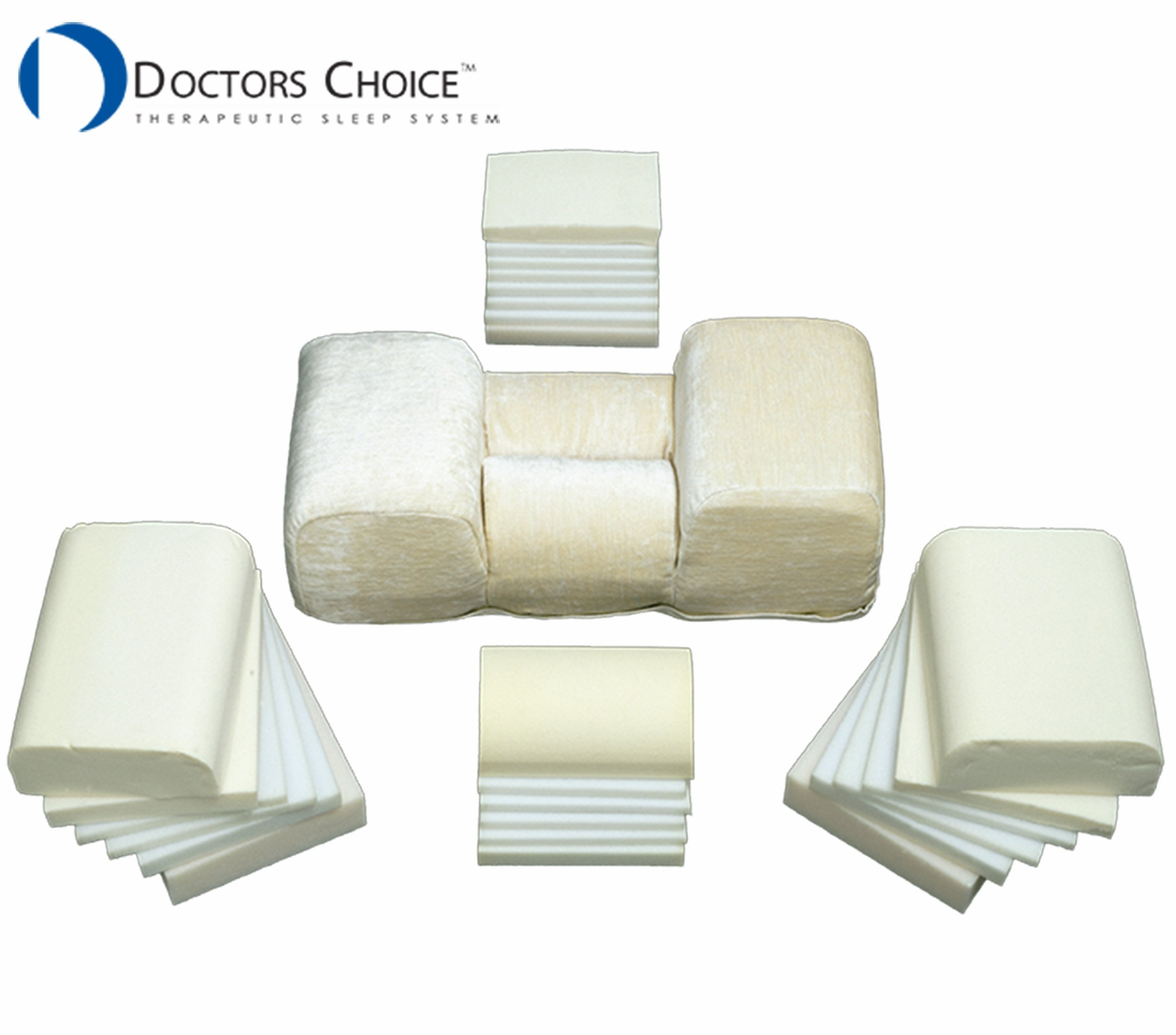 Doctors Choice Therapeutic Sleep System Pillow Patented 23 L x 10 W x 5 H USA Made Machine Washable