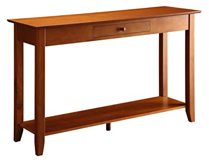 Convenience Concepts American Heritage Console Table With Drawer And Shelf,  Cherry