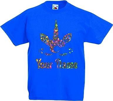 Print My Tee - Camiseta de unicornio personalizable, para cumpleaños, niña, con purpurina, para cumpleaños de 2 a 13 años: Amazon.es: Ropa y accesorios