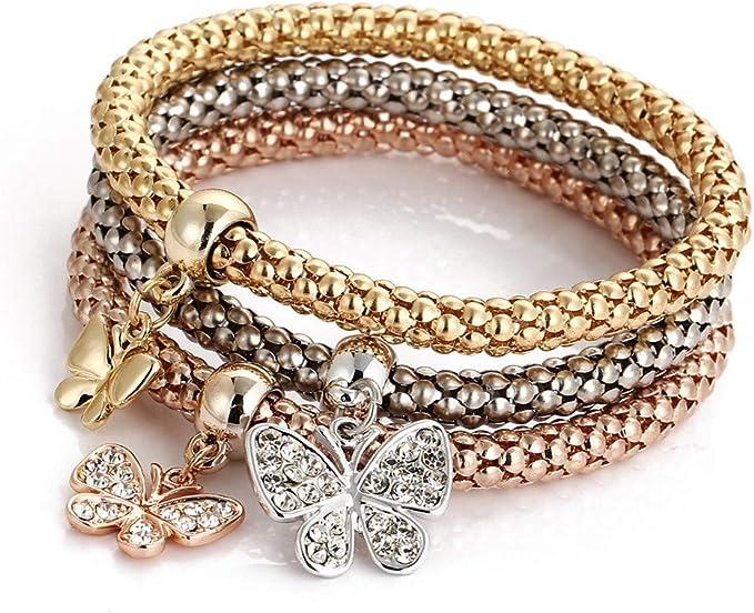 UK Ladies Luxury Designer Rose Gold Diamanté Hinged Bracelet Jewellery UK