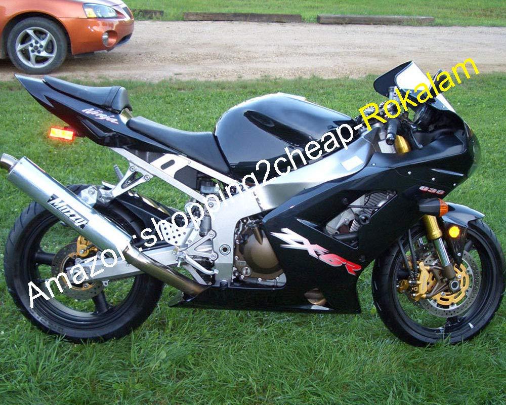 Amazon.com: All Black ZX6R 636 For Kawasaki Fairings Ninja ...