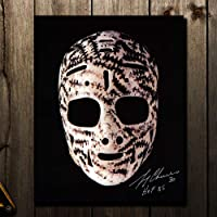 $24 » Gerry Cheevers Boston Bruins MASK Autographed 8x10