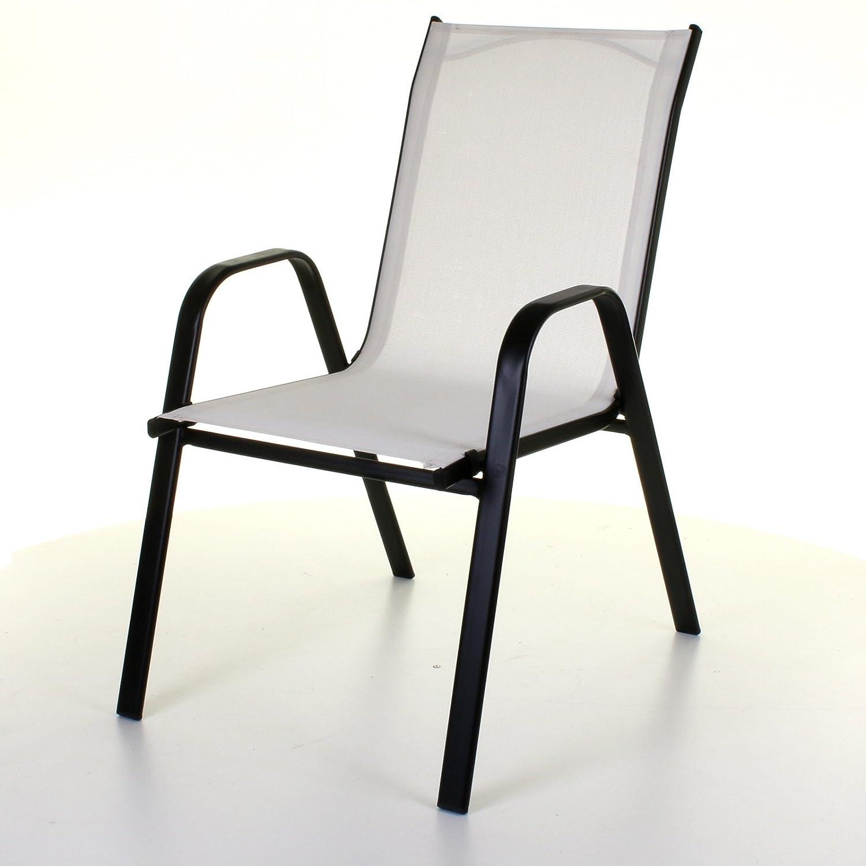 Marko Outdoor Stacking Textoline Chair Black Outdoor Bistro High Back Seating Restaurant Cafe (1 Chair, Black) MarkoTM