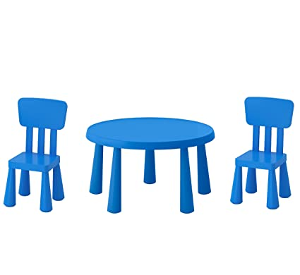 Tavolino E Sedie Ikea Mammut.B2c Ikea Mammut Tavolo Per Bambini Blu E Mammut Sedia Per