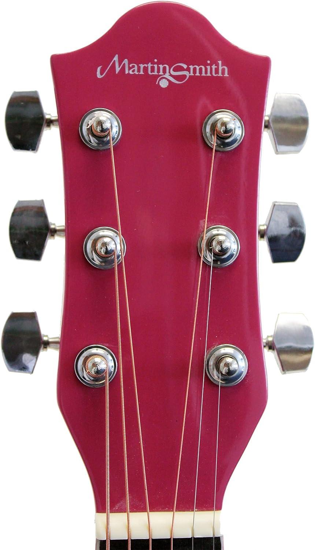 Martin Smith W-100-PNK-PK - Paquete de guitarra acústica con ...