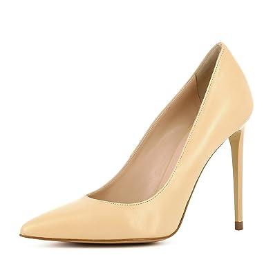 Black  Noir (Nero) Evita Shoes Jessica Escarpins Femme Cuir Lisse Beige 35 3AIbN