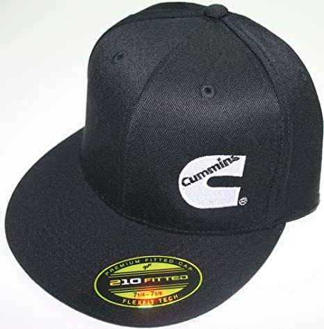 Amazon.com  Cummins Hat Ball Cap Fitted Flex Fit Flat Bill Flexfit Stretch Cummings  Ram L xl  Sports   Outdoors 24b75bf67f6c