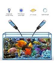 Bozily Luces para acuarios, Luz LED Regulable para Acuario, Lámpara de Acuario de Arrecife