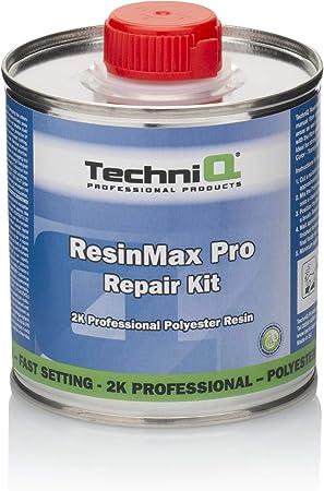 Techniq Resinmax Pro Glasfaserharz Reparaturset 0 25 M Glasfasermatte Mischbecher Und Laminierbürste 250 G Auto