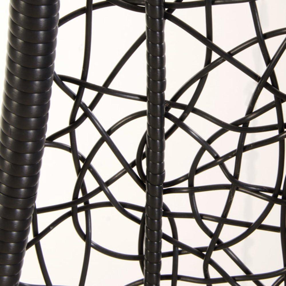 Dimensioni 79x70x120 Centimetri VERDELOOK Poltrona pensile in polyrattan con Cuscino e Struttura in Metallo Verniciato