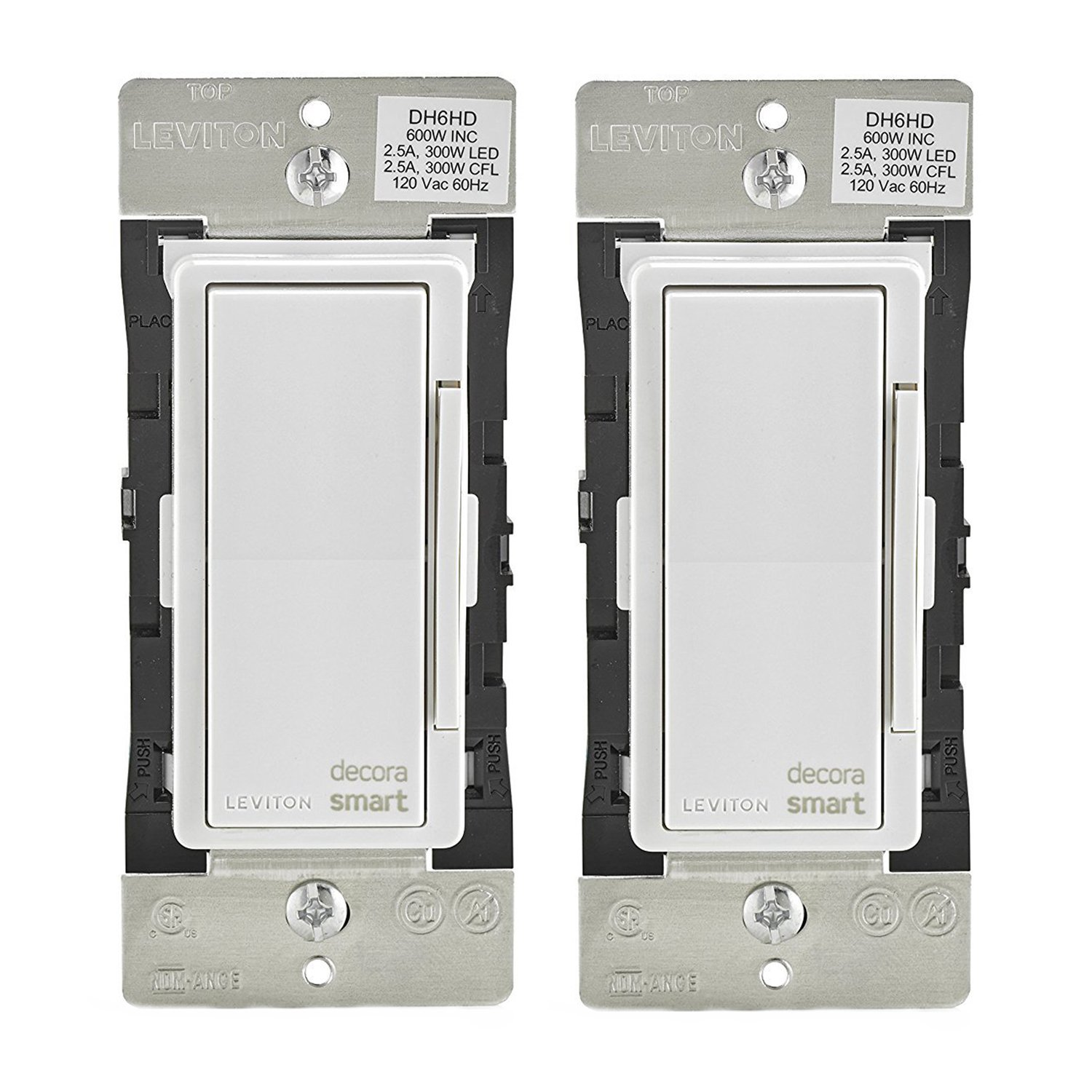 Leviton DH6HD-1BZ 600W Decora Smart Dimmer, Works with Apple HomeKit ...