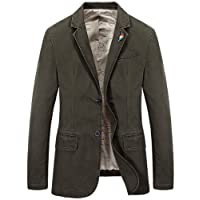 Mirecoo Men's Premium Slim Fit Casual Blazer Business Jacket Two Button Tailored Smart Fit Suits Coat