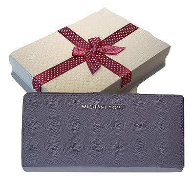 68019957d273 MICHAEL Michael Kors Jet Set Travel Flat Slim Bifold Wallet (Lilac ...