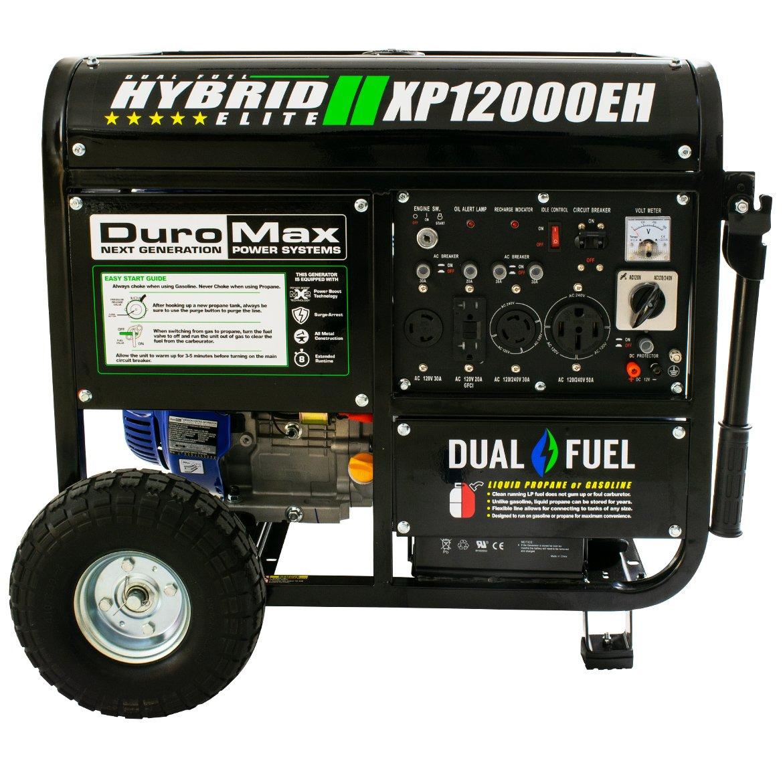 amazoncom duromax hybrid dual fuel xp12000eh 12000 watt portable
