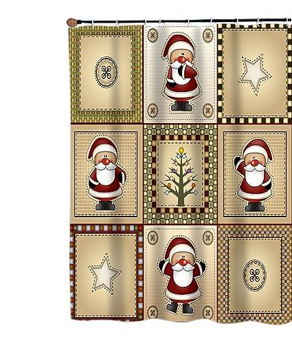 Amazon Carnation Homes Americana Country Santa Christmas Fabric