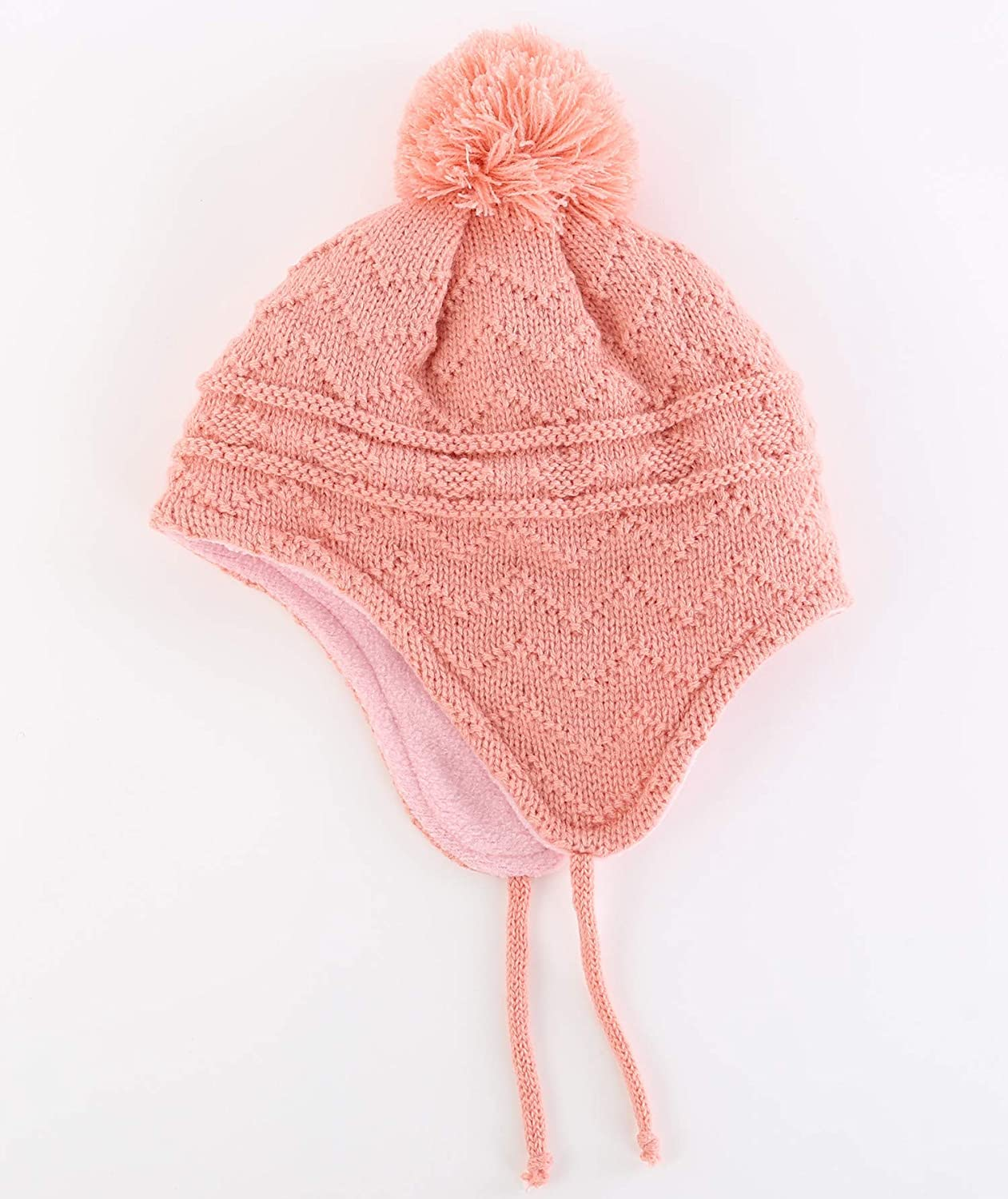 SunriseMall Toddler Winter Hat Cute Fleece Lined Knit Kids Hat with Earflap for Boys Girls