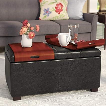 Outstanding Amazon Com Simple Interior Modern Storage Ottoman With 2 Ibusinesslaw Wood Chair Design Ideas Ibusinesslaworg