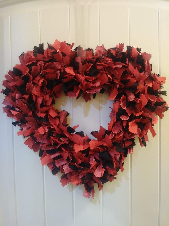 Valentines Day Front Door Wreath Valentine Door Decor Heart Shape
