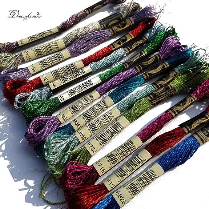 Amazon.com: Maslin 1pcs Jewel Effects Metallic E130 E135 E155 E316 E321 E334 E699 E3837 Embroidery Thread for Cross Stitch Same Color as DMC Floss - (Size: E334): Arts, Crafts & Sewing