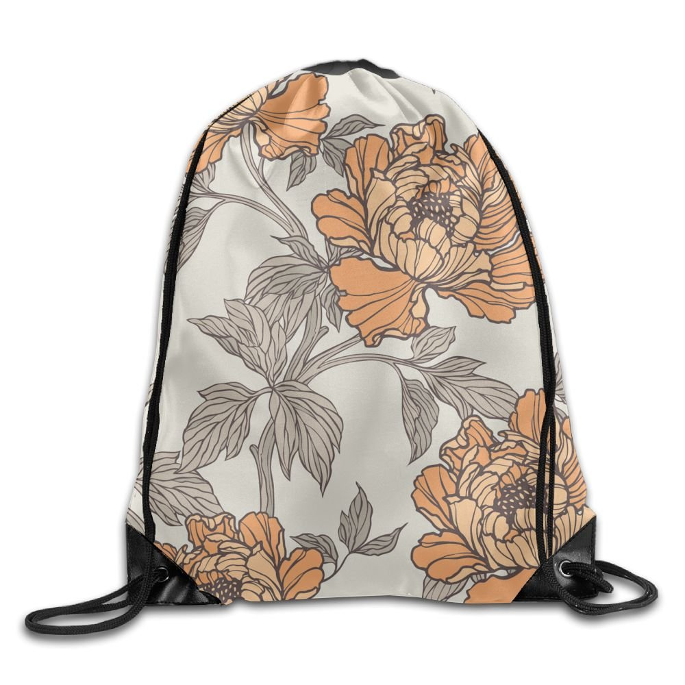 VIMUCIS Yellow Chrysanthemum Drawstring Backpack Rucksack Shoulder Bags Training Gym Sack For Man And Women