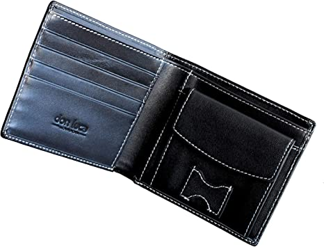 London Leather Mens Wallet Credit Card Holder Coin Pouch