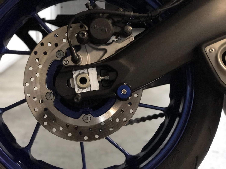 2 pcs M6 *1.5 Nottolini Assen Swingarm Spool Screw 6mm Per Yamaha MT01 MT-01 FZ-01 MT03 MT-03 MT-125 MT09 MT-09 MT10 MT-10 Blu
