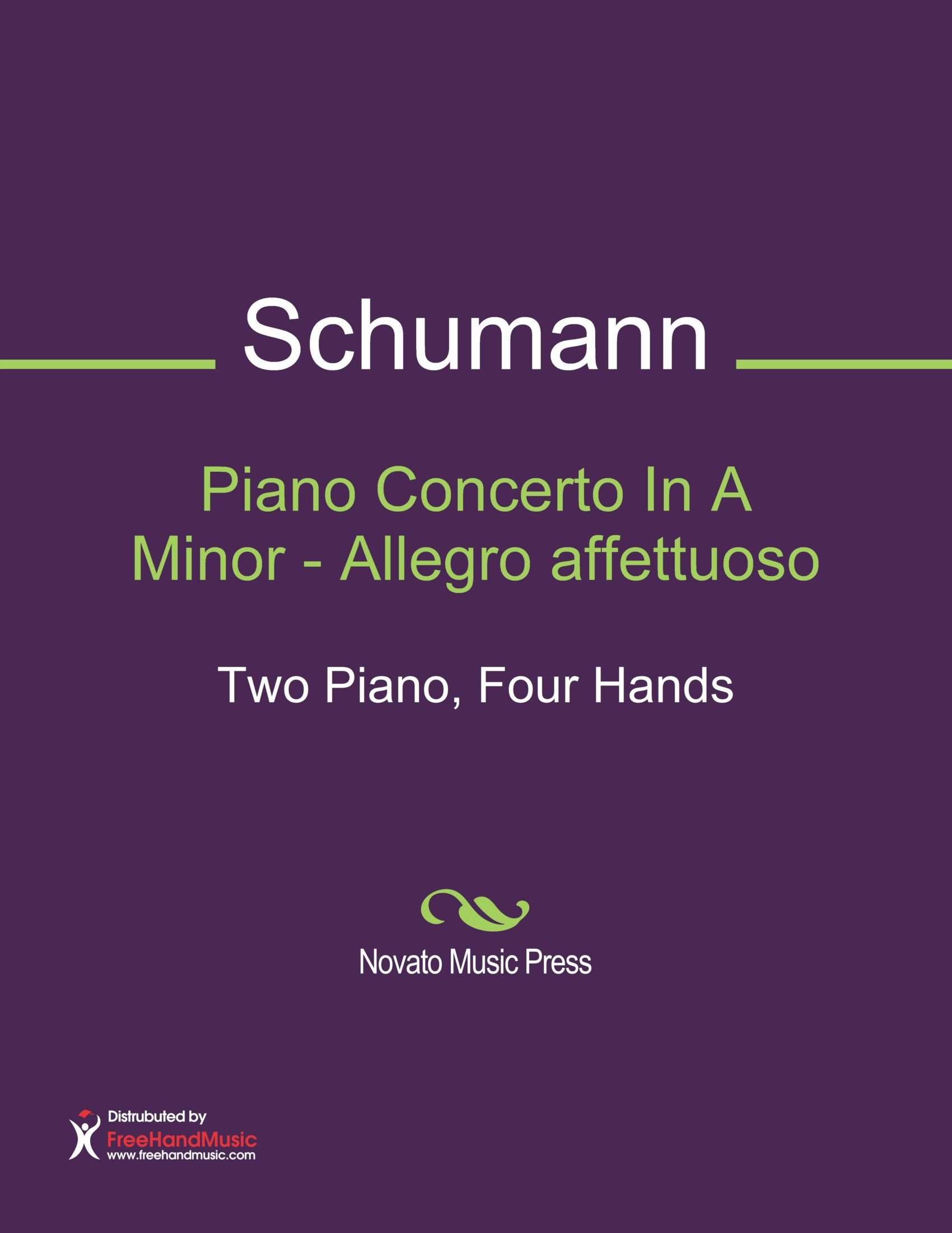 Piano Concerto In A Minor - Allegro affettuoso Sheet Music (Two Piano, Four Hands) pdf epub