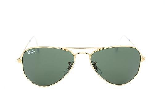 3b5025e9f25 Amazon.com  RAY BAN AVIATOR RB 3044 L0207 52mm GOLD FRAME W  G-15XLT GREEN  SUNGLASSES SMALL  Shoes